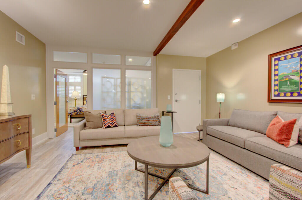 Living Area with Many Seating Options