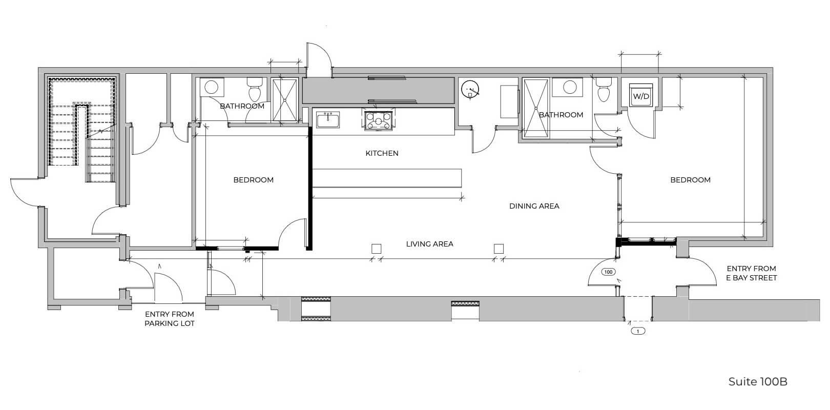 Suite 100B Floor Plan