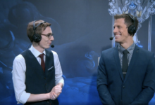 Vedius (left) and Captain Flowers (right) during Worlds 2017, the duo from the clip below!