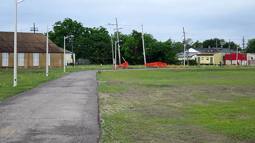Progress on the Lafitte Greenway as of April 11, 2015