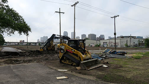Work continues on the Lafitte Greenway which should be complete at the end of Summer, 2015.