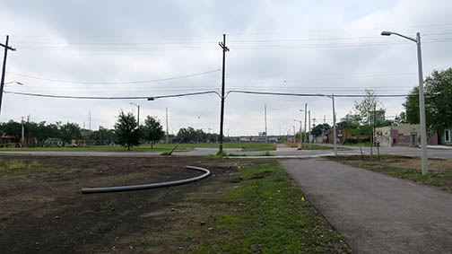 The Lafitte Greenway as of April 11, 2015.