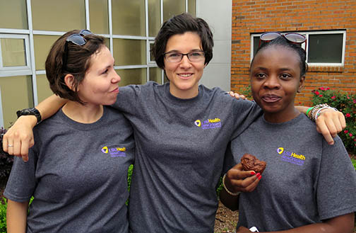 A few of the ladies from the LSU School of Public Health who helped clean the Lafitte Greenway on April 11, 2015.