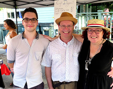 Lots of friendly faces were at the Cafe Degas tent at the Bastille Day Celebration in Faubourg St. John.