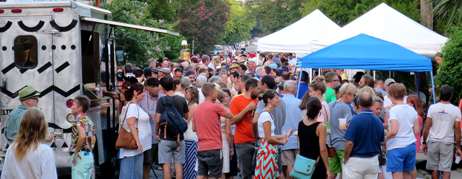 Lots of friendly folks came out to enjoy the Bastille Day Celebration in Faubourg St. John.