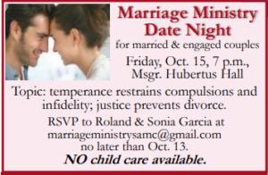 Marriage Ministry Date Night @ Hubertus Hall