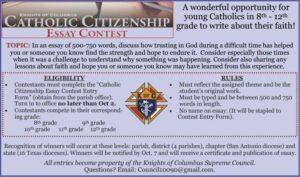 Catholic Citizenship Essay Contest