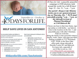 Parish day on the Sidewalk for 40 Days for Life @ Planned Parenthood abortion clinic