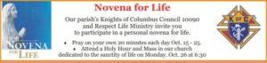 Novena for Life