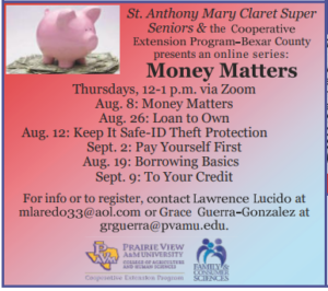 Super Seniors Money Matters @ Online