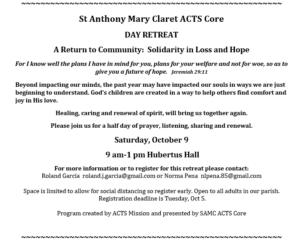 ACTS Day Retreat @ Hubertus Hall