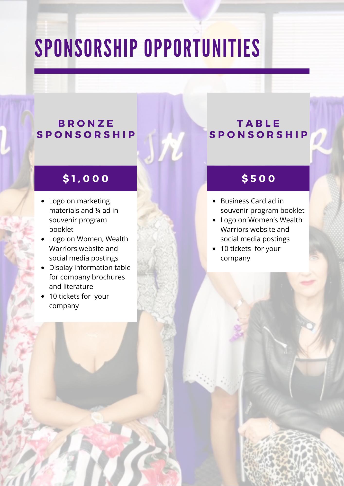 Sponsorship Levels 2