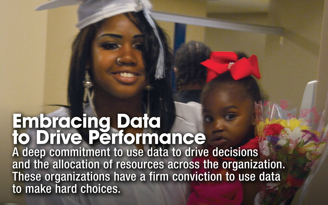 Embracing Data to Drive Performance - A deep commitment to use data to drive decisions and the allocation of resouces across the organization. These organizations have a firm conviction to use data to make hard choices.