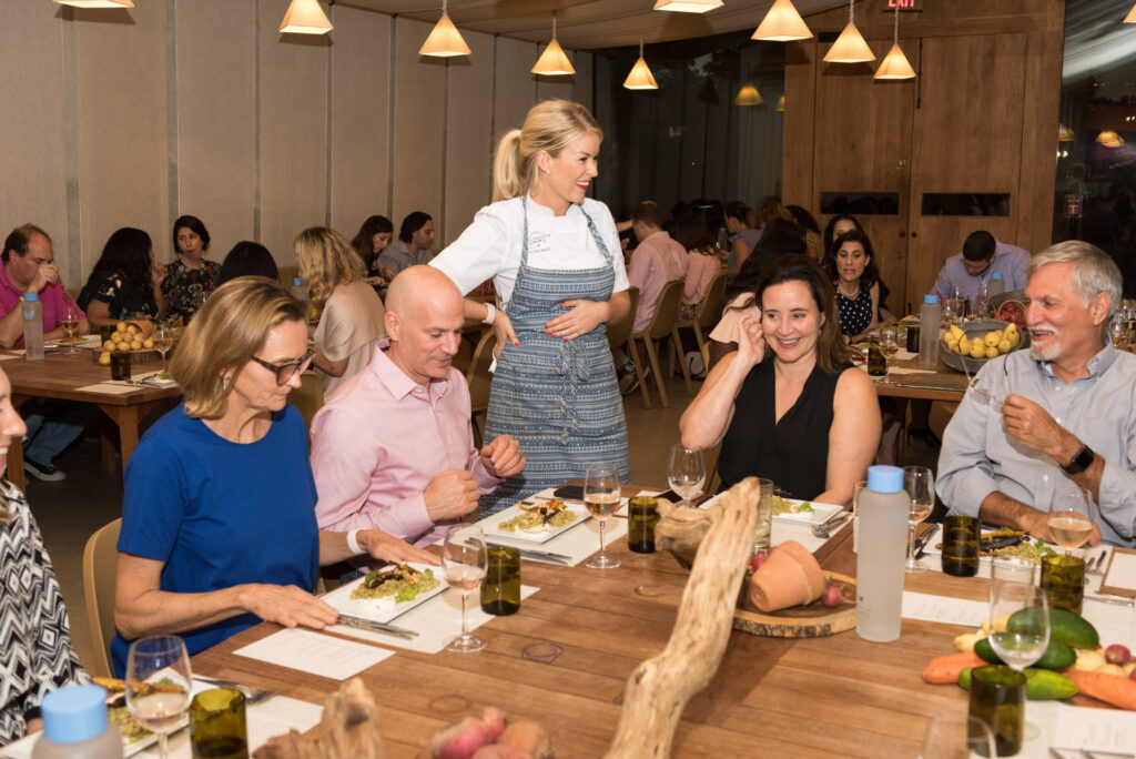 Chef Janine Booth and Guests