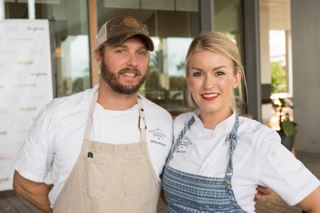 Chef Jeff McInnis and Chef Janine Booth