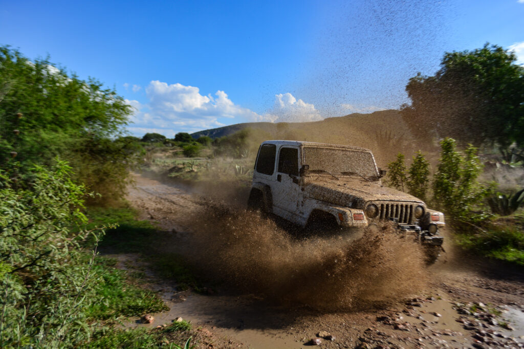 Jeep Off-roading in backcountry