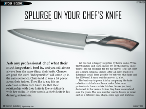 Splurge on Your Chef's Knife