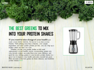 The Best Greens To Mix Into Your Protein Shakes
