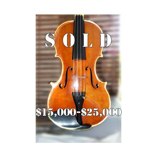 Tomas Pilar violin $15,000 - $25,000