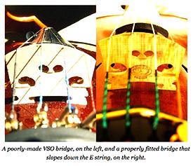 violin | bridge comparison | extract from violinist.com