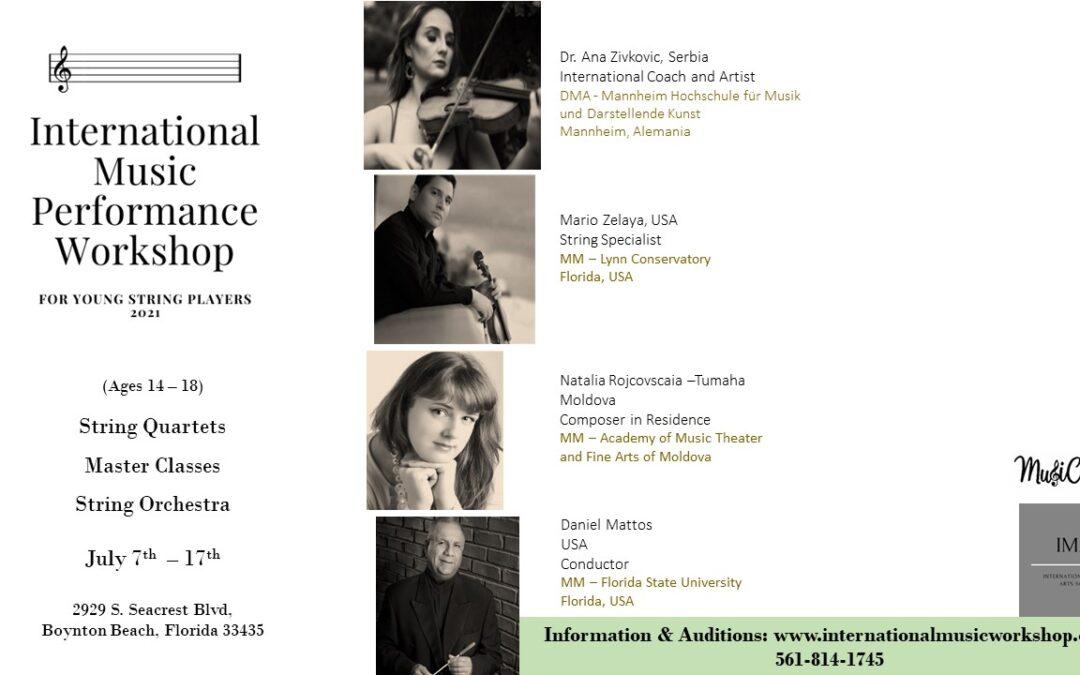 International Music Performance Workshop 2021