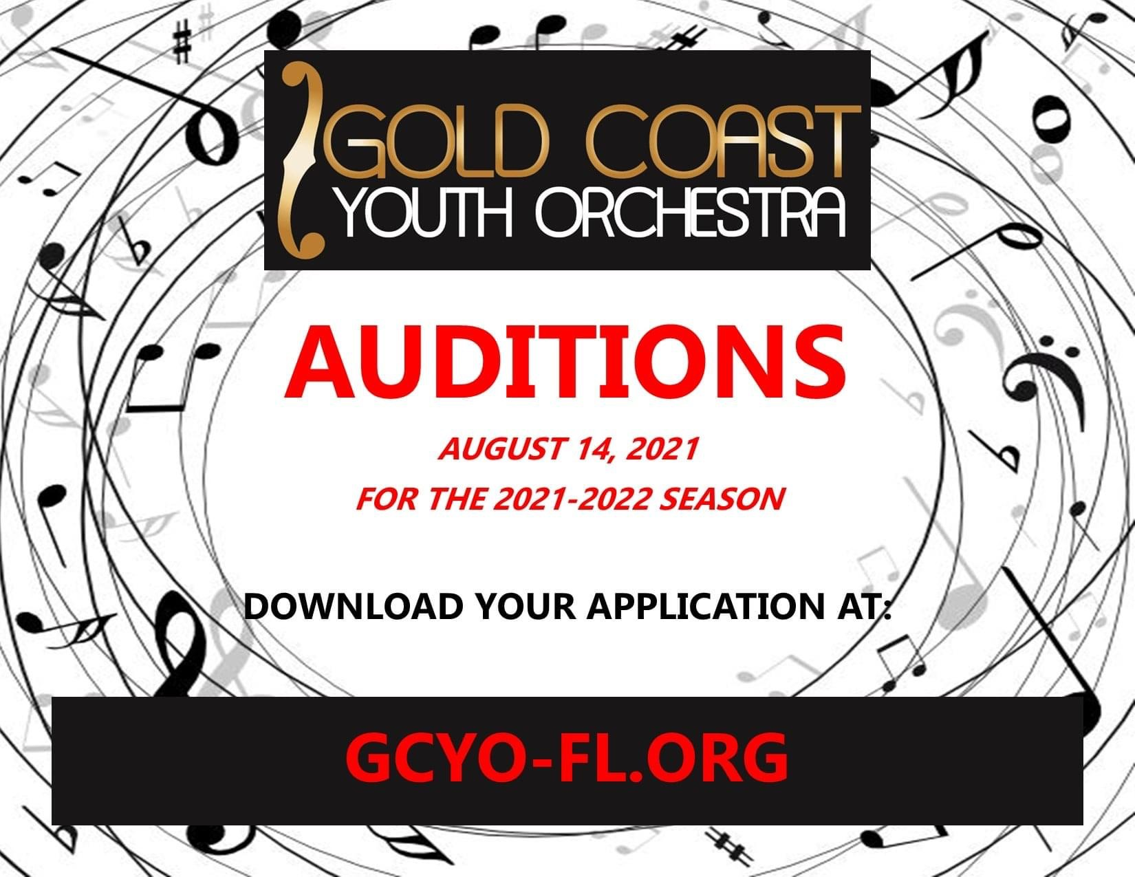 Gold Coast Youth Orchestra – Auditions 2021