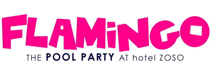 Flamingo Pool Party in Palm Springs Logo