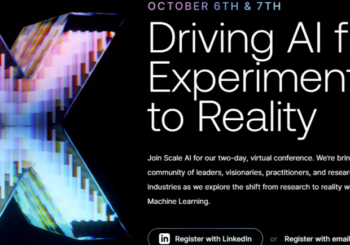 Driving AI from Experimentation to Reality. Two-day, virtual conference. (OCTOBER 6TH & 7TH)