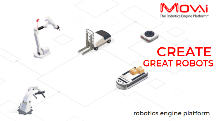 Mov.ai – robotics engine platform that provides autonomous robot manufacturers everything they need to quickly build it.