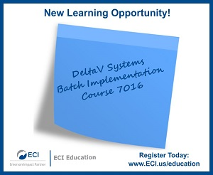 DeltaV Systems Batch Implementation Course 7016