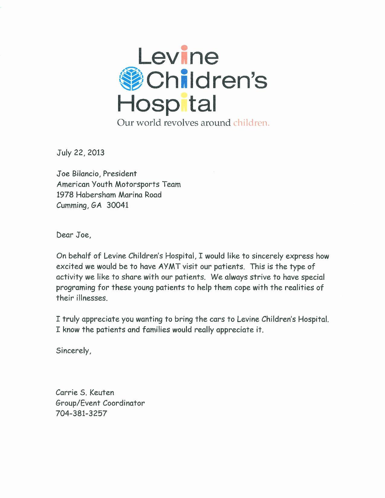 levine-childrens-hospital-invitation-letter-2013