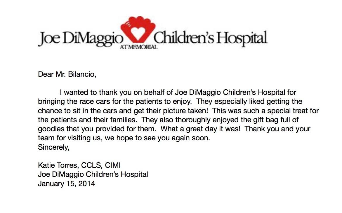 Joe DiMaggio Letter