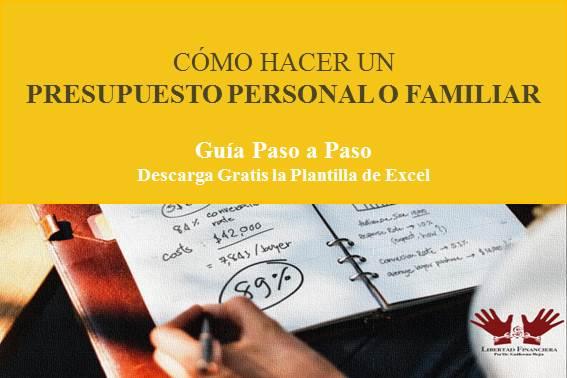 ▷ Cómo hacer un presupuesto personal o familiar 2020 - Excel