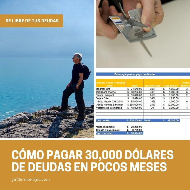 CÓMO PAGAR 30,000 DÓLARES DE DEUDAS EN POCOS MESES