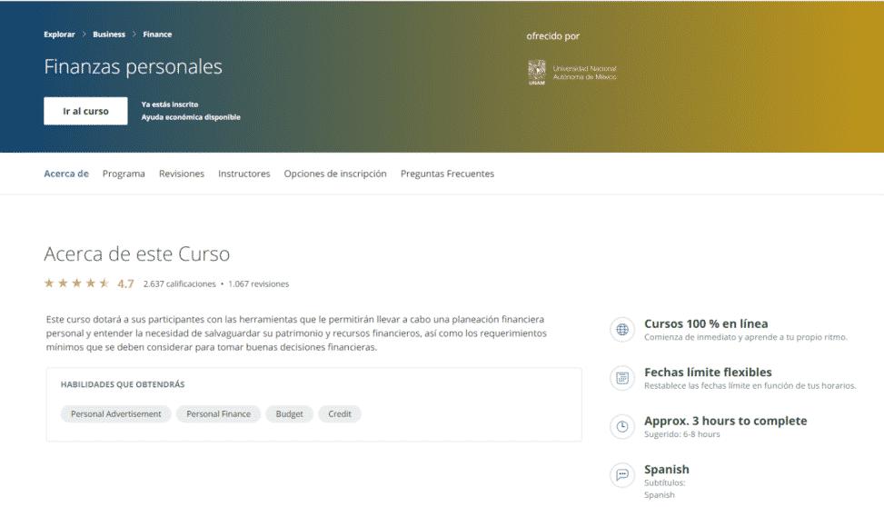 Finanzas Personales - UNAM