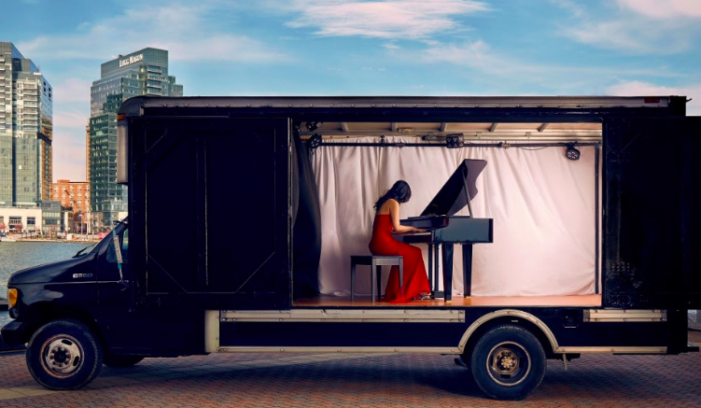 Mobile stage bringing arts to communities