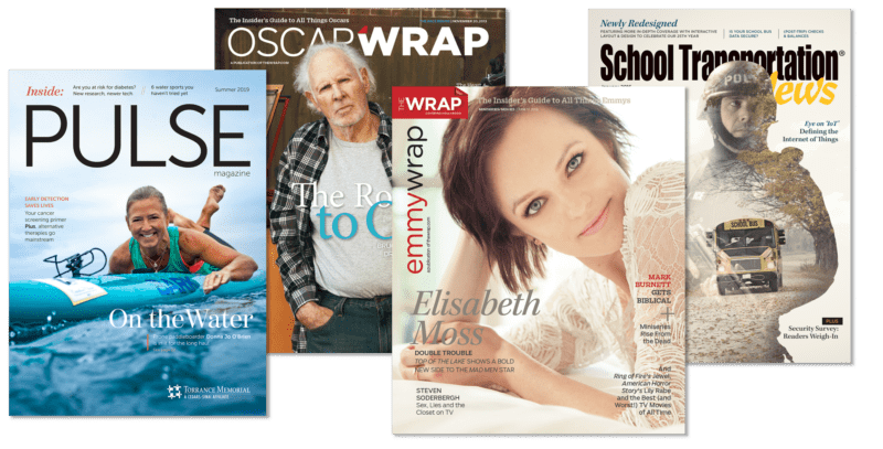 magazine covers created by Vincent Rios Creative