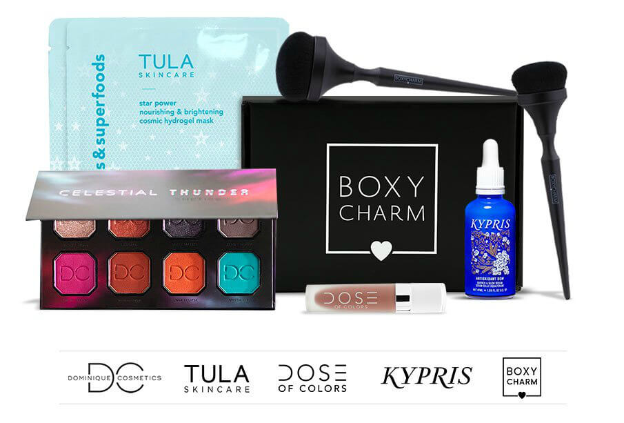 Boxycharm subscription for the holidays by beauty after forty