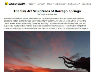 See what everyone is talking about in Borrego Springs, CA!