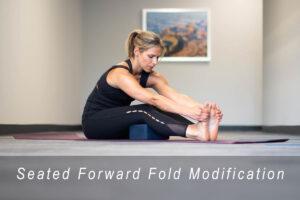 seated forward fold modification