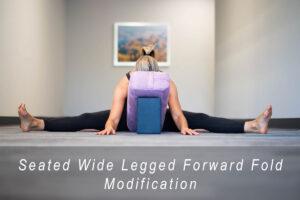 Seated wide legged forward fold