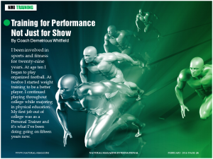 TRAINING FOR PERFORMANCE NOT JUST FOR SHOW