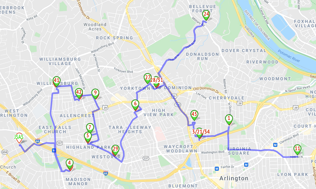 Route Suggestion for Saturday