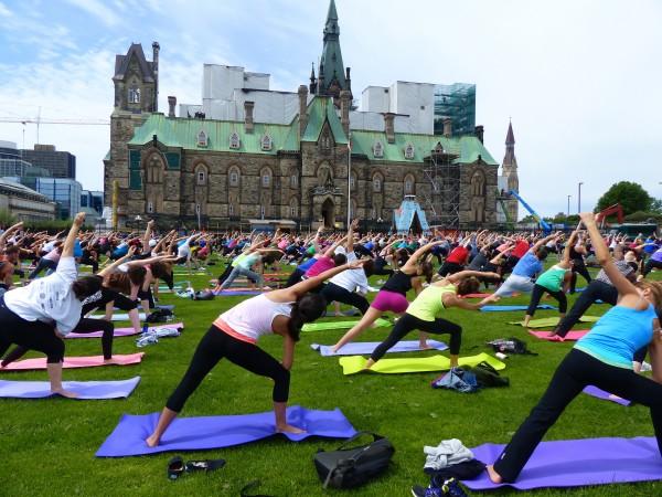 Yoga on Parliament Hill in Ottawa