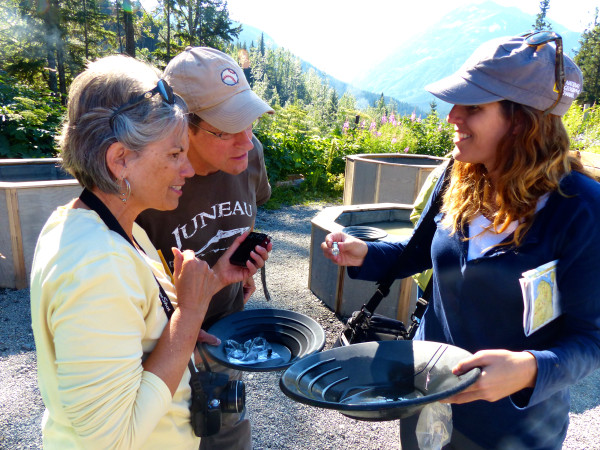 Crow Creek Mine- showing people my gold