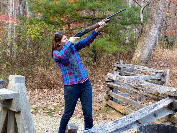 Shooting clays- pigeons