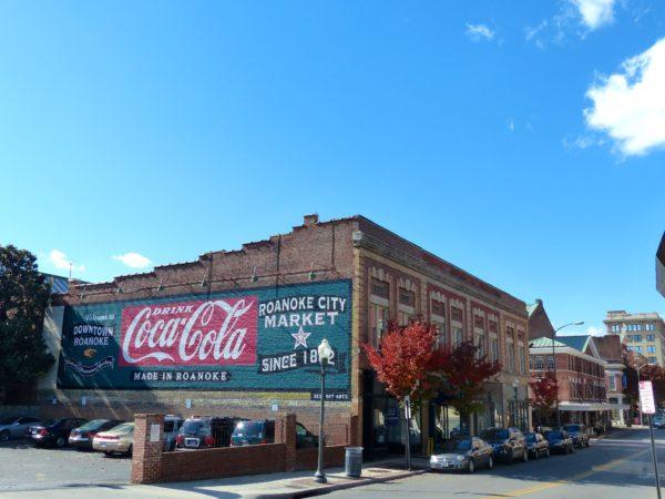Roanoke City Market- coca cola sign