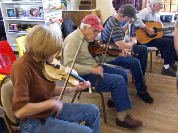 Floyd Country Store- close up of fiddlers