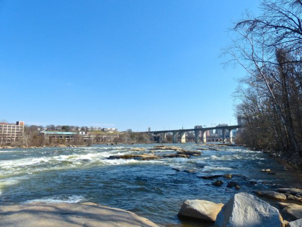 Belle Isle- rocks and river