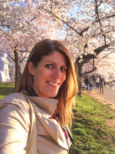Cherry Blossoms in DC- selfie